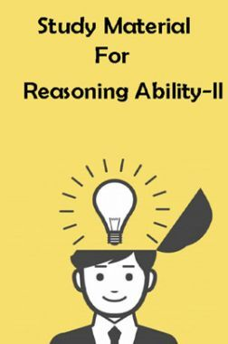 Study Material For Reasoning Ability - II