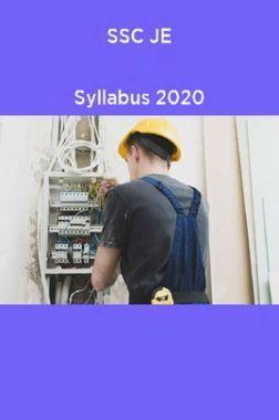 SSC JE  Syllabus 2020