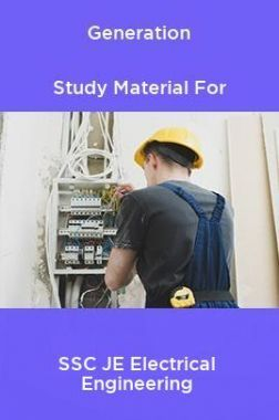 Generation Study Material For SSC JE Electrical Engineering