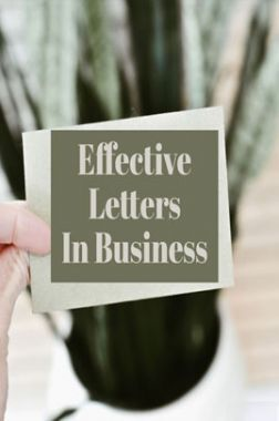Effective Letters In Business
