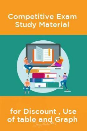 Competative Exam Study Materia  for Discount , Use of table and Graph
