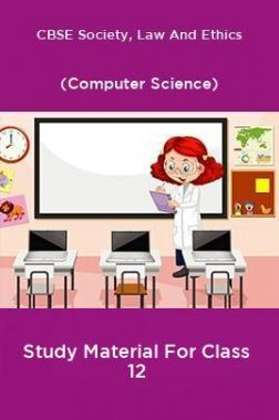 CBSE Society, Law And Ethics (Computer Science) Study Material For Class 12
