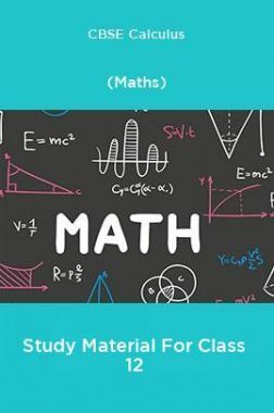 CBSE Calculus (Maths) Study Material For Class 12