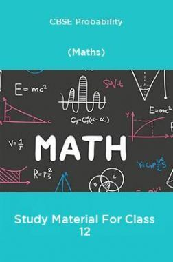 CBSE Probability (Maths) Study Material For Class 12