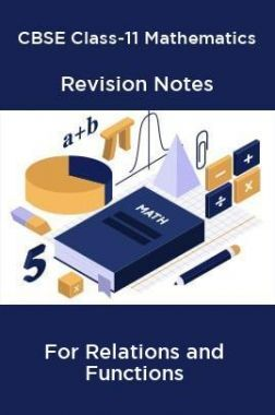 CBSE Class-11 Mathematics Revision Notes For Relations and Functions