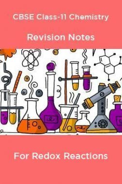 CBSE Class-11 Chemistry Revision Notes For Redox Reactions