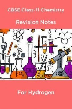 CBSE Class-11 Chemistry Revision Notes For Hydrogen
