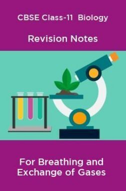 CBSE Class-11  Biology Revision Notes For Breathing and Exchange of Gases