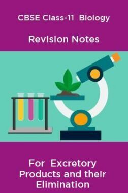 CBSE Class-11  Biology Revision Notes For  Excretory Products and their Elimination