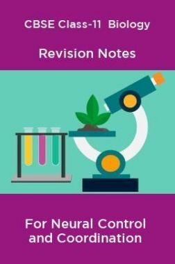 CBSE Class-11  Biology Revision Notes For Neural Control and Coordination