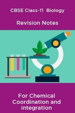 CBSE Class-11  Biology Revision Notes For Chemical Coordination and integration