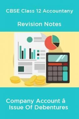 CBSE Class 12 Accountany Revision Notes Company Account – Issue Of Debentures