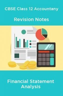 CBSE Class 12 Accountany Revision Notes Financial Statement Analysis