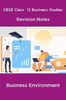 CBSE Class  12 Business Studies Revision Notes Business Environment