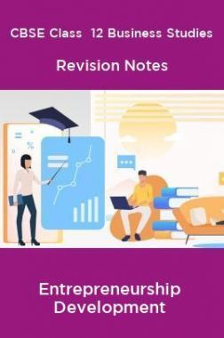 CBSE Class  12 Business Studies Revision Notes Entrepreneurship Development
