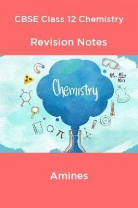 CBSE Class 12 Chemistry Revision Notes Amines