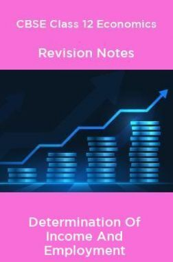 CBSE Class 12 Economics Revision Notes Determination Of Income And Employment