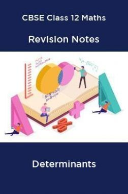 CBSE Class 12 Maths Revision Notes Determinants