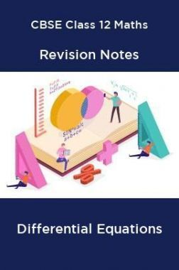 CBSE Class 12 Maths Revision Notes Differential Equations