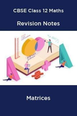 CBSE Class 12 Maths Revision Notes Matrices