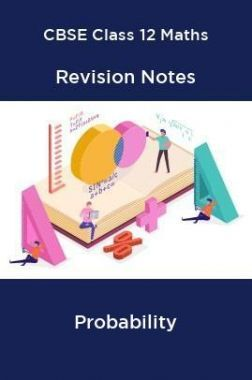 CBSE Class 12 Maths Revision Notes Probability