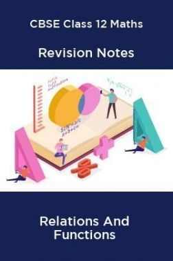 CBSE Class 12 Maths Revision Notes Relations And Functions