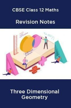 CBSE Class 12 Maths Revision Notes Three Dimensional Geometry