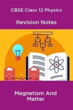 CBSE Class 12 Physics Revision Notes Magnetism And Matter