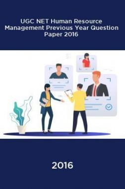 UGC NET Human Resource Management Previous Year Question Paper With Solution 2016