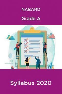 NABARD Grade A Syllabus 2020