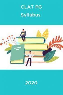 CLAT PG Syllabus 2020