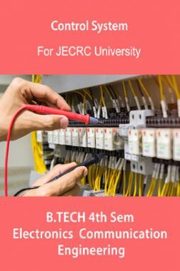 Control System B.Tech 4th Sem Electronics & Communication Engineering For JECRC University