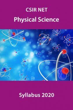 CSIR NET Physical Science Syllabus 2020