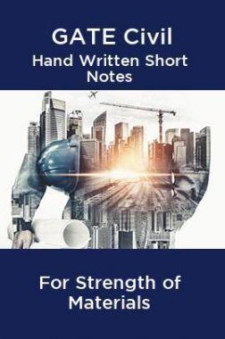 GATE Civil Hand Written Short Notes For Strength of Materials