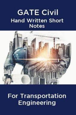 GATE Civil Hand Written Short Notes For Transportation Engineering 2