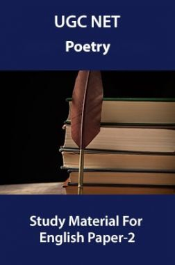 UGC NET Poetry Study Material For English Paper-2