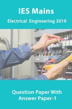 IES Mains Electrical  Engineering 2019 Question Paper With Answer Paper-1