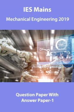 IES Mains Mechanical Engineering 2019 Question Paper With Answer Paper-1