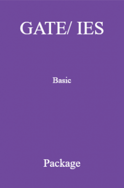 GATE/ IES Basic Package