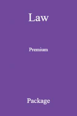 Law Premium Package