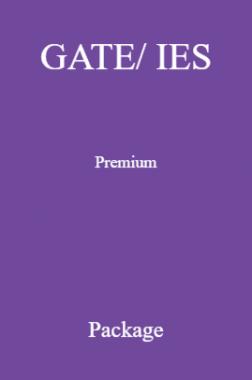 GATE/ IES Premium Package
