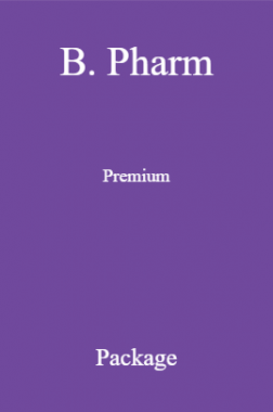 B. Pharm Premium Package