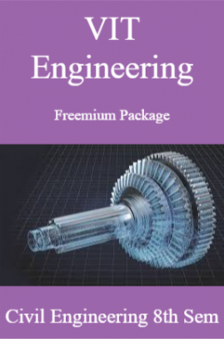 VIT Engineering Freemium Package Civil Engineering 8th Sem