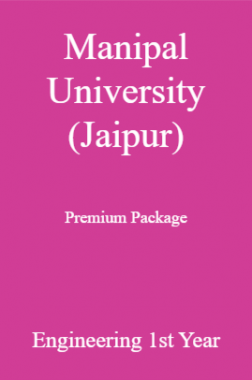 Manipal University (Jaipur) Premium Package Engineering 1st Year