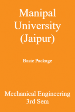 Manipal University (Jaipur) Basic Package Mechanical Engineering 3rd Sem