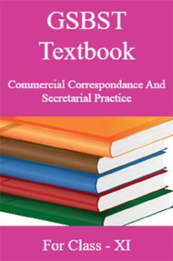 GSBST Textbook Commercial Correspondance And Secretarial Practice For Class - XI