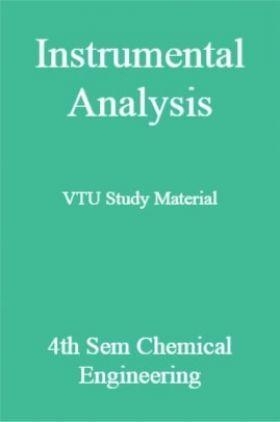 Instrumental Analysis VTU Study Material 4th Sem Chemical Engineering