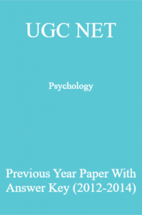 UGC NET Psychology Previous Year Paper With Answer Key (2012-2014)