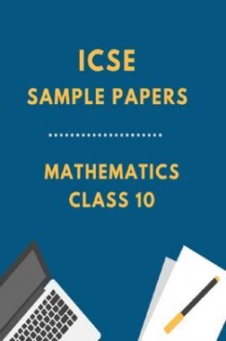 ICSESample Paper For Mathematics Class 10