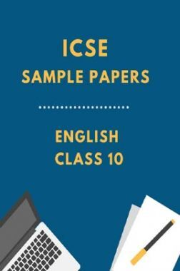 ICSESample Paper For English Class 10